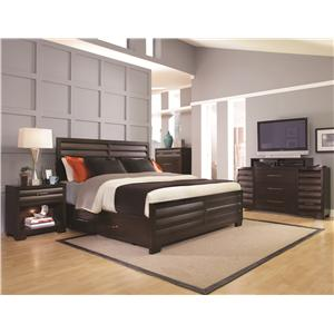 Pulaski Furniture Tangerine  Queen Bedroom Group