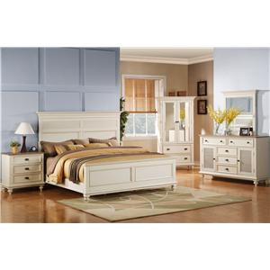 Riverside Furniture Coventry Two Tone Full/Queen Bedroom Group