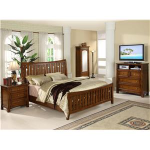 Riverside Furniture Craftsman Home Full/Queen Bedroom Group