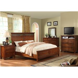 Riverside Furniture Craftsman Home Queen Bedroom Group