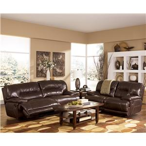 Signature Design by Ashley Exhilaration - Chocolate Reclining Living Room Group