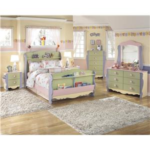 Signature Design By Ashley Doll House Modular Loft Bed W Underbed Storage Opt D Regency