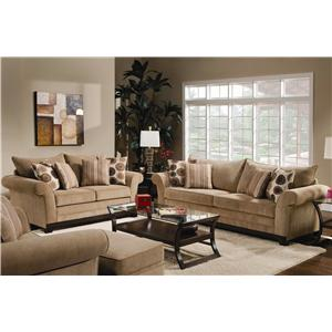 United Furniture Industries 3051 Stationary Living Room Group