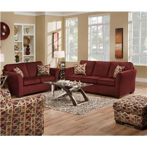 United Furniture Industries 5159 Stationary Living Room Group
