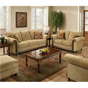 United Furniture Industries 8003 Stationary Living Room Group