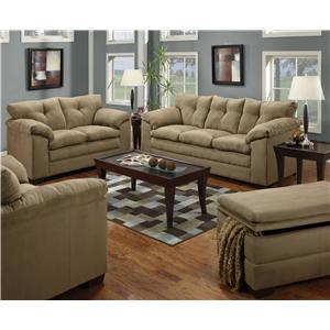 United Furniture Industries 6565 Stationary Living Room Group