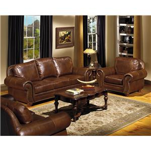 USA Premium Leather 8555 Stationary Living Room Group