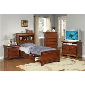Winners Only Renaissance Twin Bedroom Group