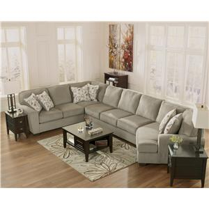 Patina 4 piece small sectional with right cuddler for Small sectional sofa with cuddler