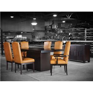 Canadel Loft Custom Dining Customizable Rectangular Table With Block Pedestal Godby Home