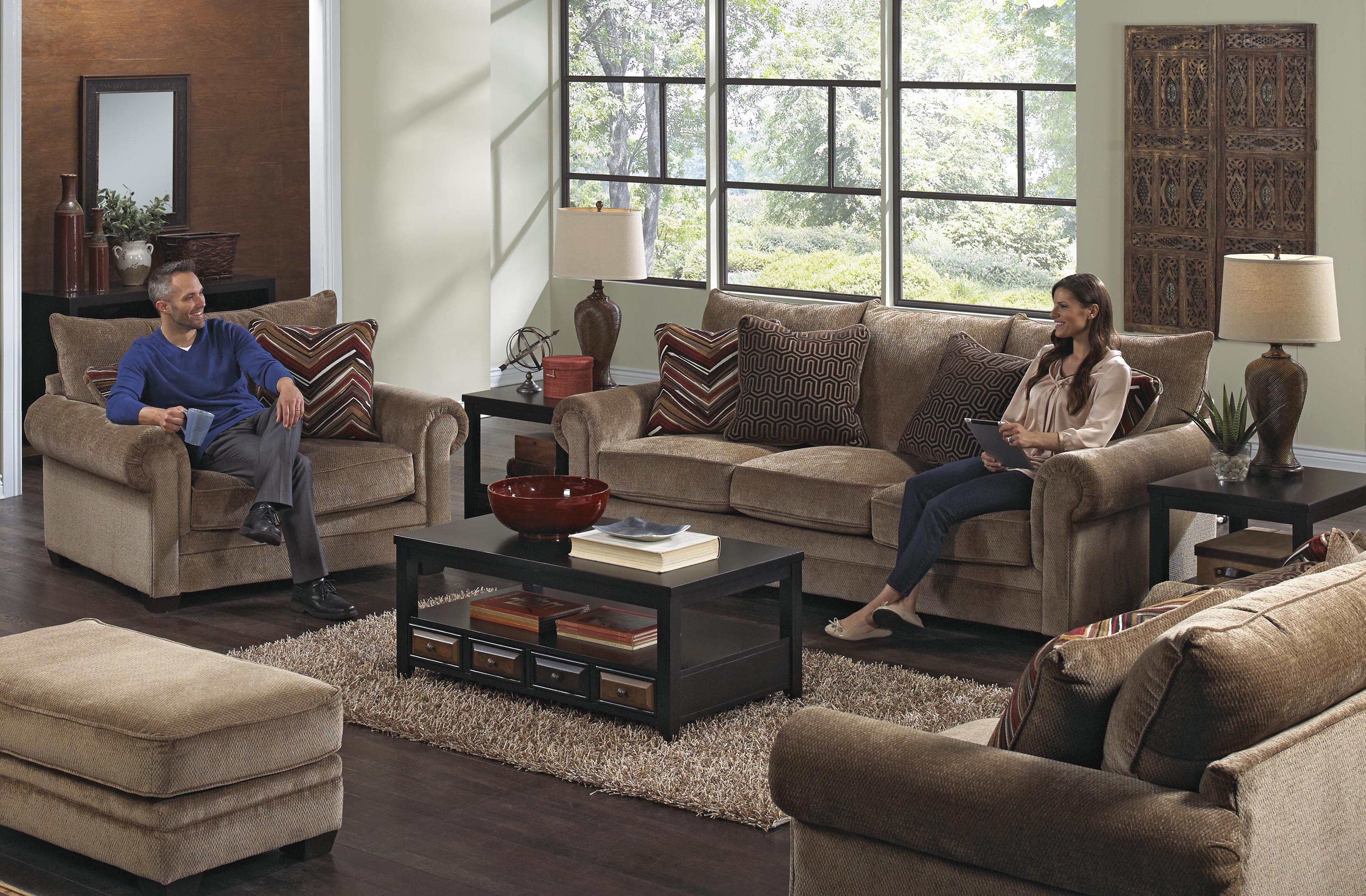 Stationary living room group by jackson furniture wolf for Living room group sets