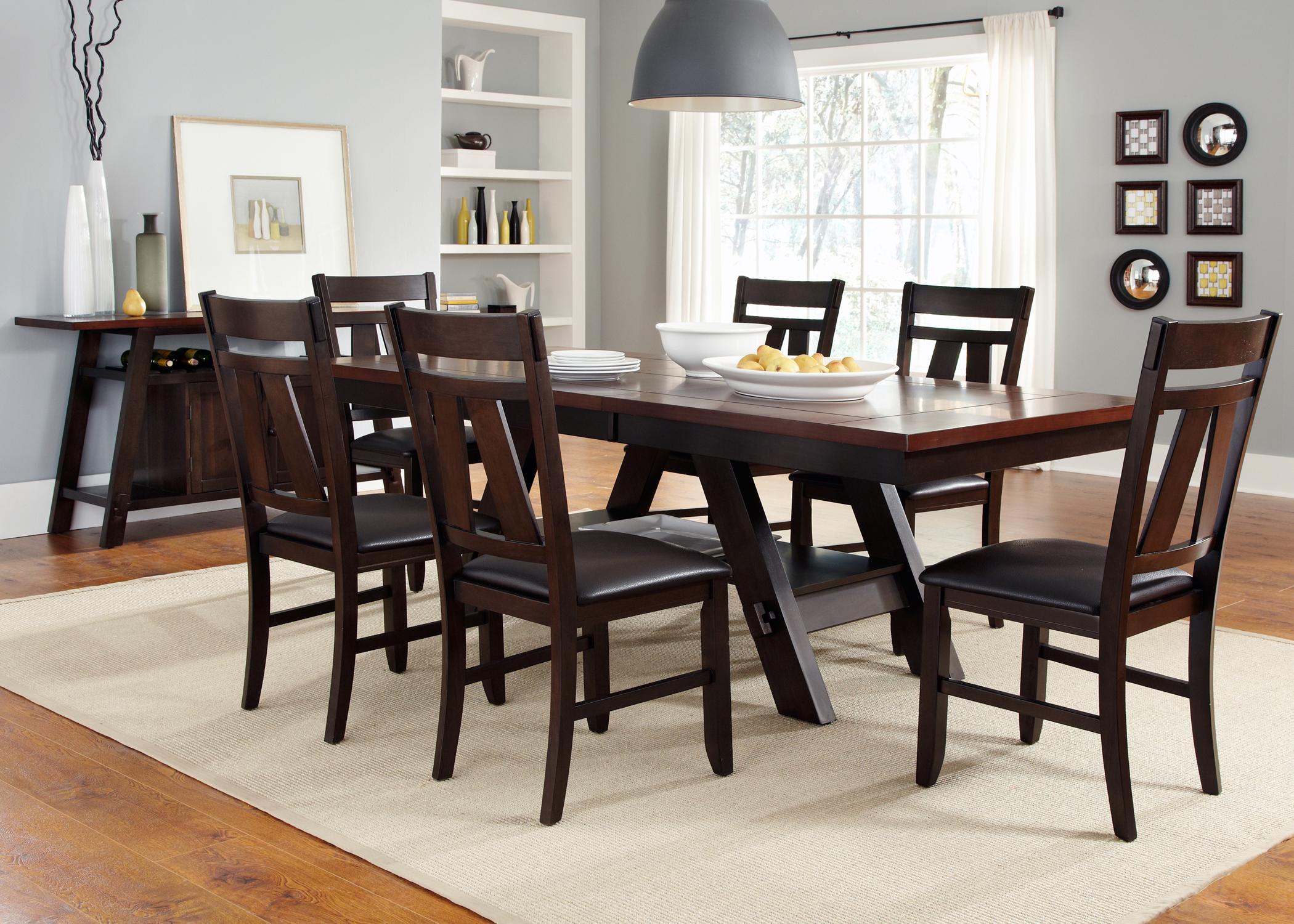 casual dining room group by liberty furniture wolf and. Black Bedroom Furniture Sets. Home Design Ideas