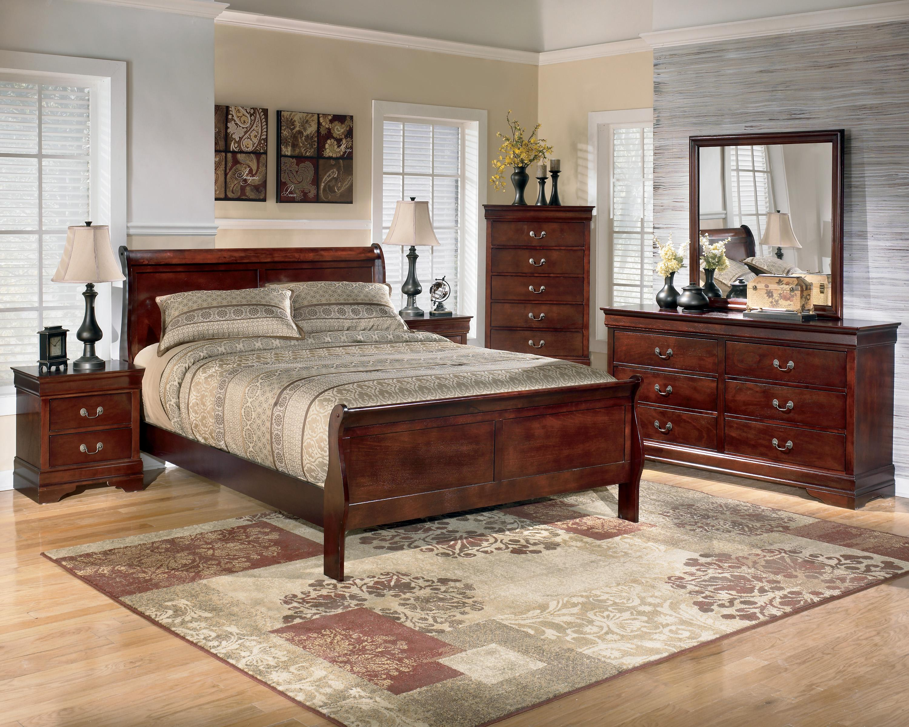 5 piece queen bedroom group by signature design by ashley wolf and gardiner wolf furniture for 5 piece queen sleigh bedroom set