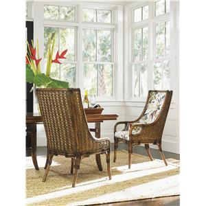 bahama home bali hai tropical 5 piece single pedestal dining room set