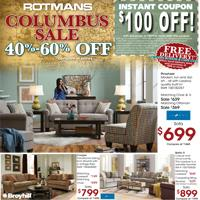 Columbus Sale with $100 coupon and Free Delivery!