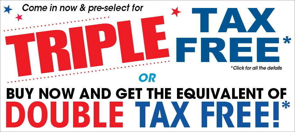 Pre-select for triple tax free or buy now and get double tax free