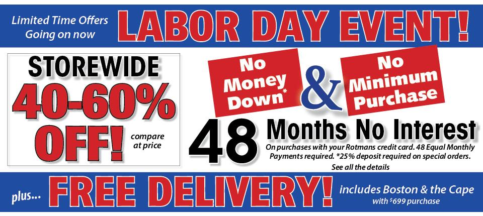 Labor Day Event with Free Delivery