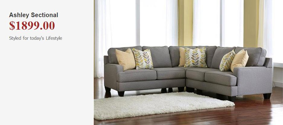 Ashley Sectional. $1899.00. Styled for today's lifestyle