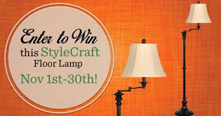 Enter to win this StyleCraft Floor Lamp