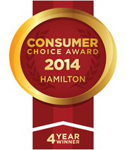 Consumer choice award 2014 hamilton 4 year winner