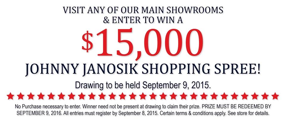 Enter to win a $15,000 Johnny Janosik Shopping Spree!