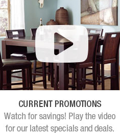 Current Promotions. Watch for savings! Play the video for our latest specials and deals.