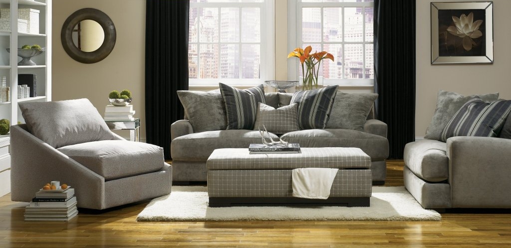 photo of a beautifully furnished living room