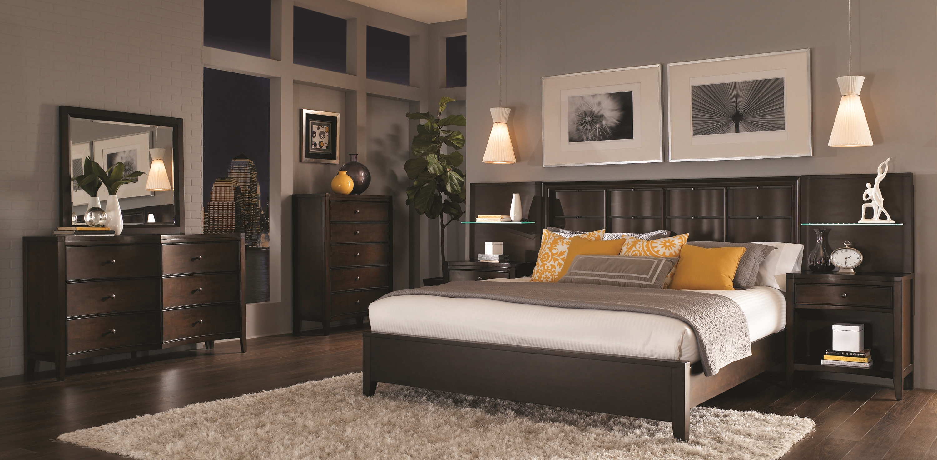photo of a comfortable bedroom