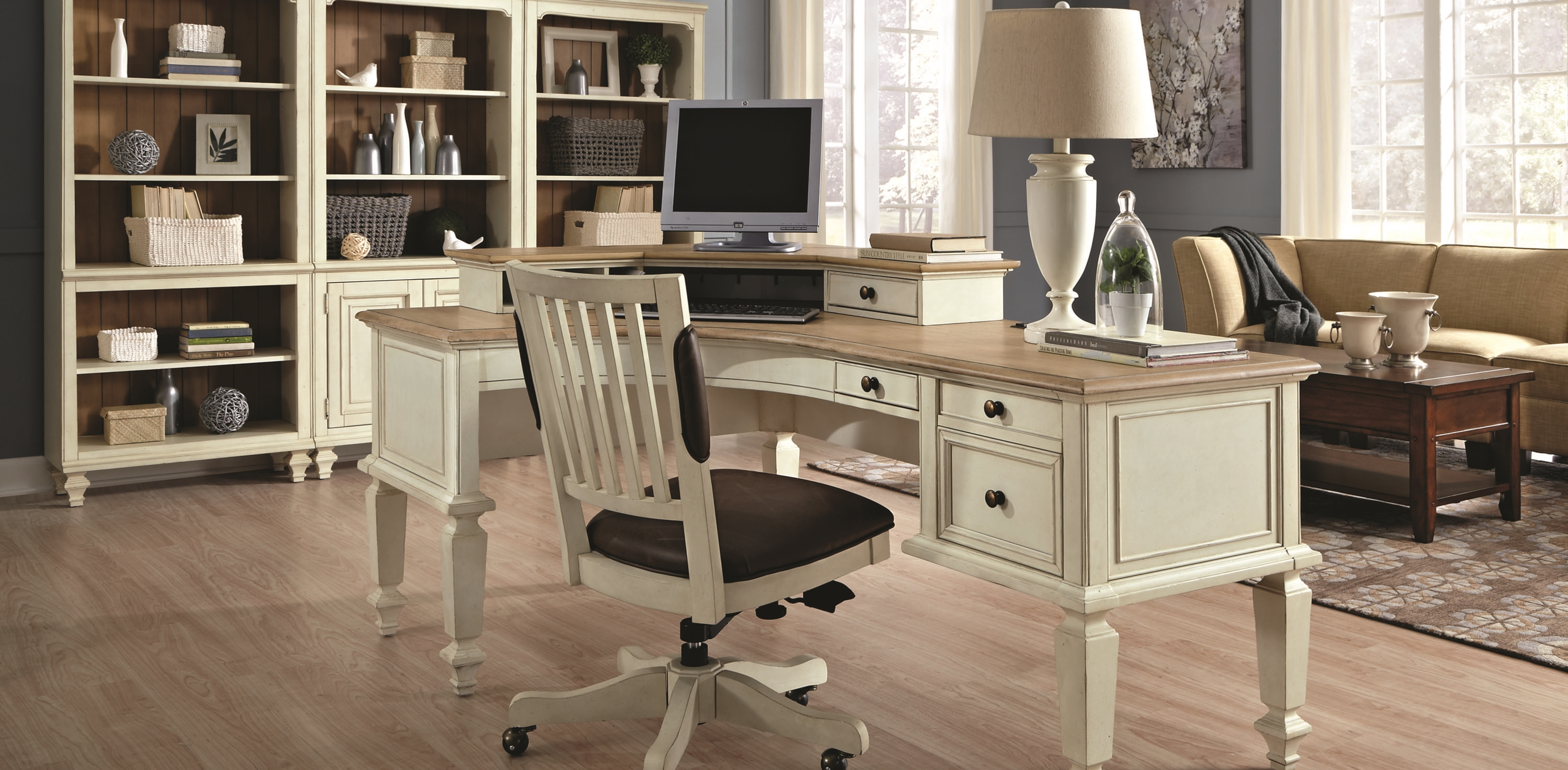 photo of a beautiful home office