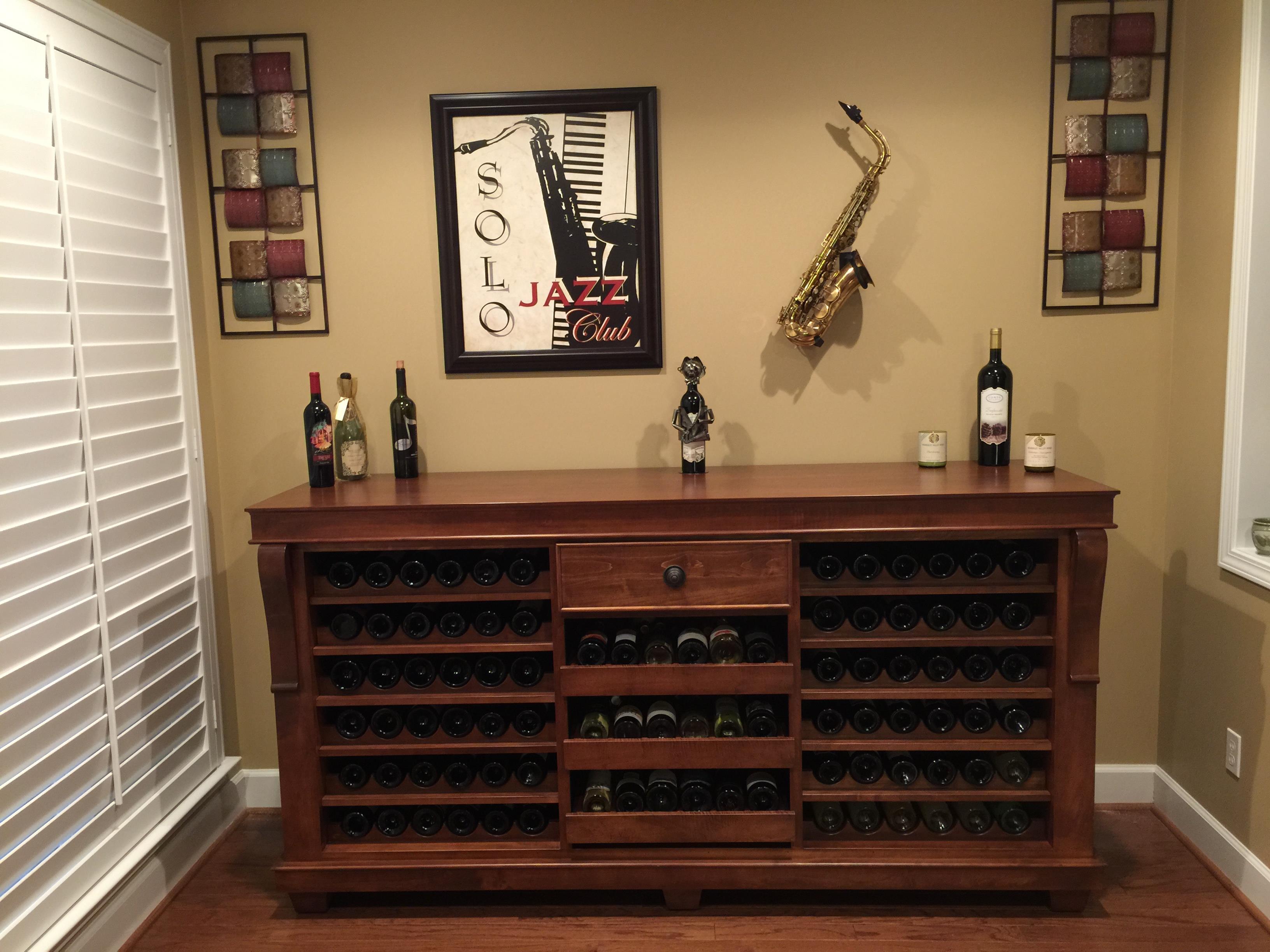 custom wine credenza