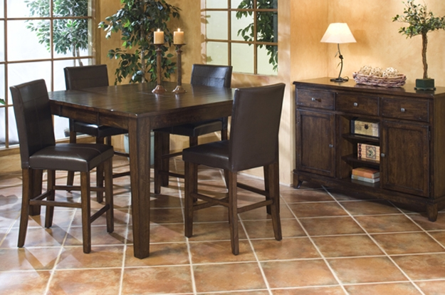 You will be on top of the word when you see our selection of gathering tables to pub sets. Create your own or choose from in-stock options for great comfort and designs.