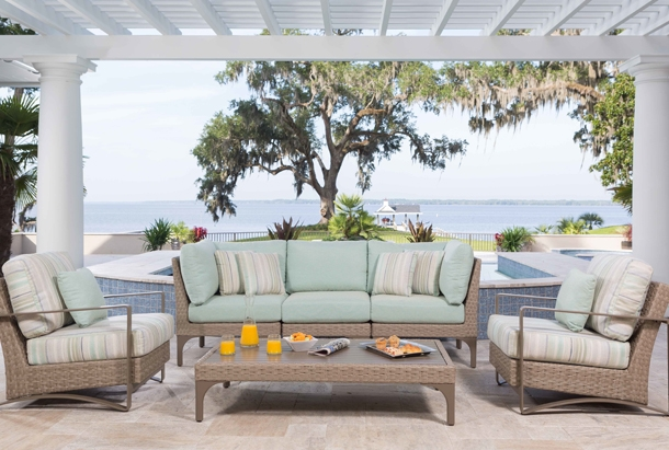 Alison Craig has long been the destination for quality outdoor furnishings. With our many Florida inspired collections, you can turn your Patio into an Extravagant Oasis!