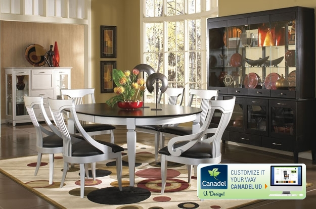 A great solid wood dining room set can help inspire great meals and conversation. Love the sleek contemporary styling of this set or custom design the set of your dreams - your style, size, chair, colour, and finish.