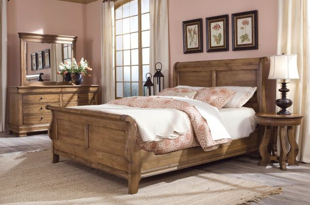 Rejuvenate each night with a sublimely crafted solid wood bedroom set. Browse our wide selection of bedroom furnishings in order to select the perfect pieces for your home available in a choice of wood finishes.