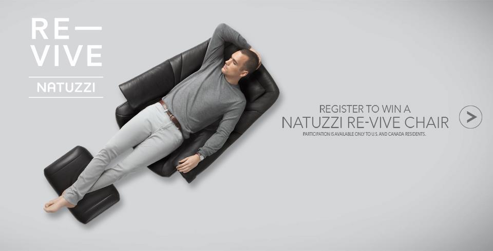 Register to Win Natuzzi Chair