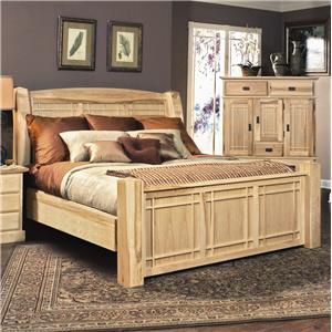 AAmerica Amish Highlands Queen Arch Panel Bed
