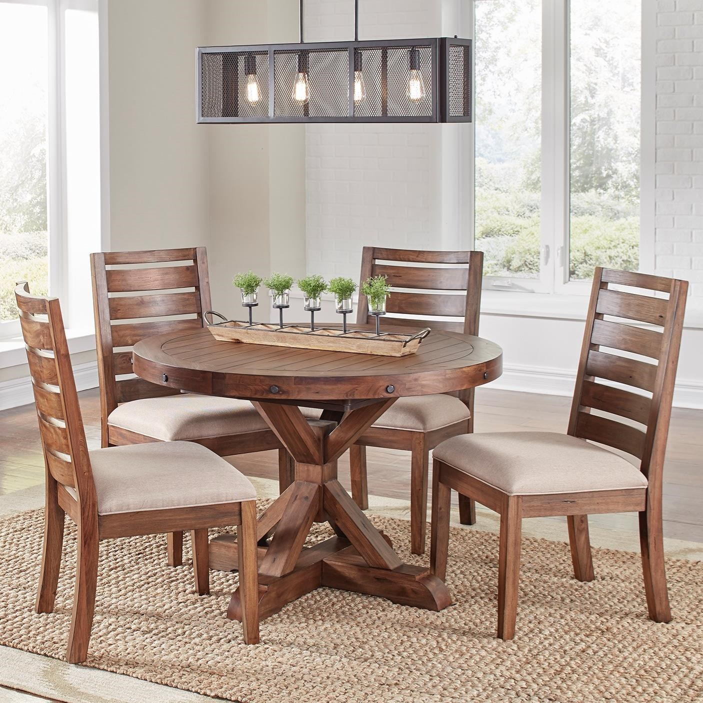5 Piece Dining Set By Aamerica Wolf Furniture
