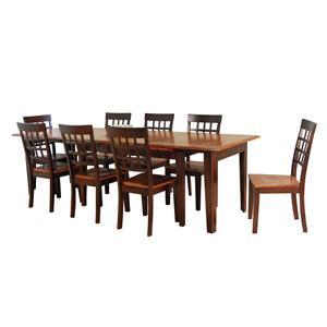 AAmerica Bristol Point 9 Pc. Accordion Table Set