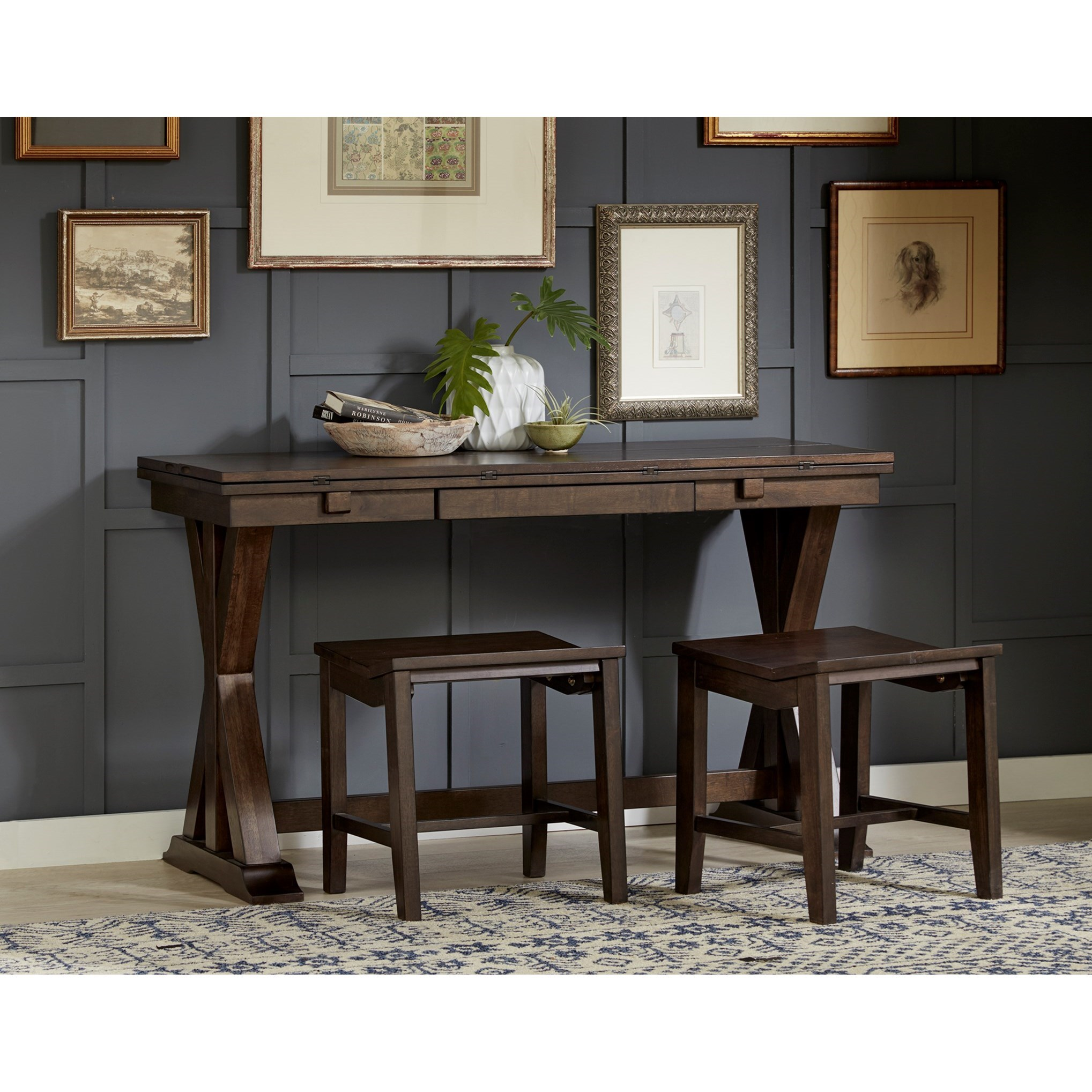 Flip Top Dining Table With Storage By Aamerica Wolf