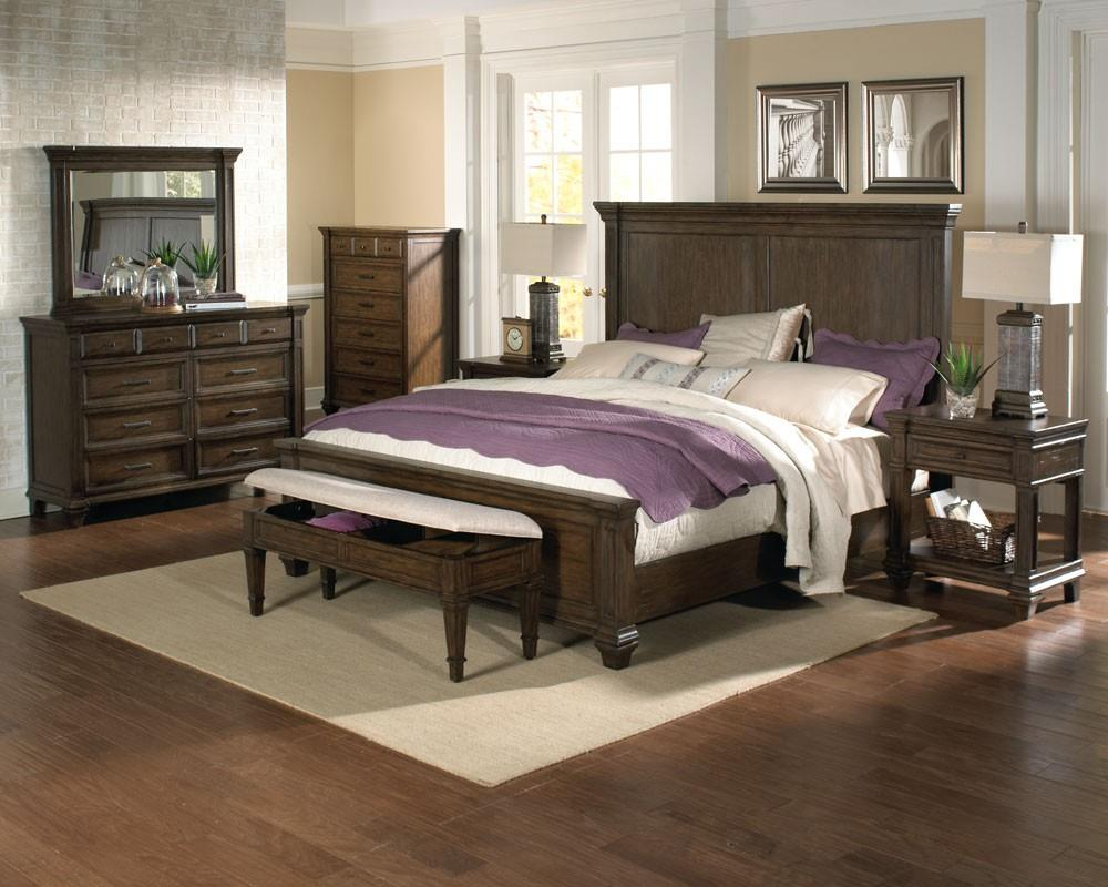 Mansion Bedroom Furniture Solid Mahogany Queen Mansion Bed With Crown Molding By Aamerica