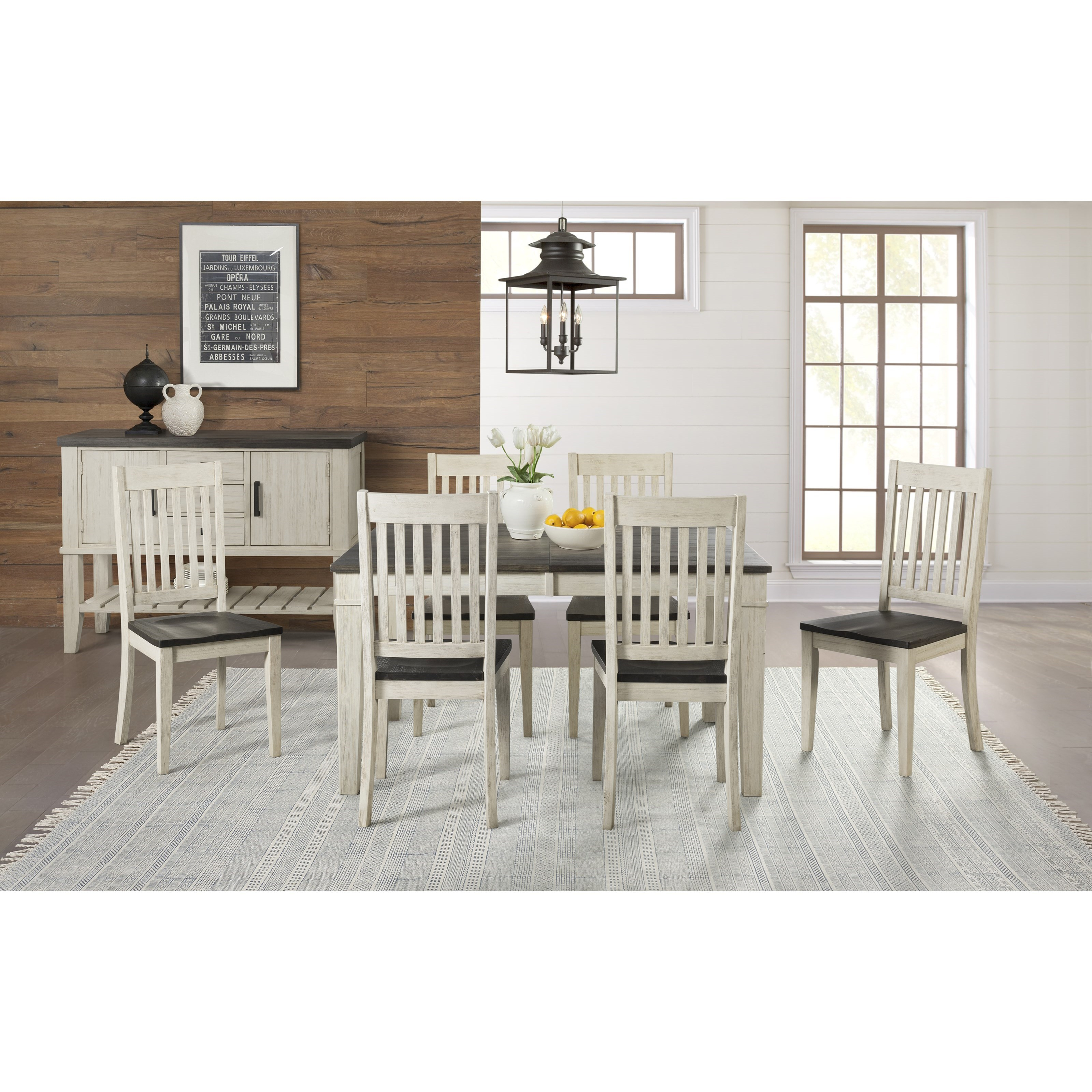 Standard Furniture Cambria Rectangular White Wood And: Transitional Solid Wood Rectangular Leg Table With