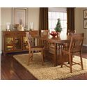 AAmerica Laurelhurst 5-Piece Rectangular Gathering Height Table Set  - Shown with Wood Top Server