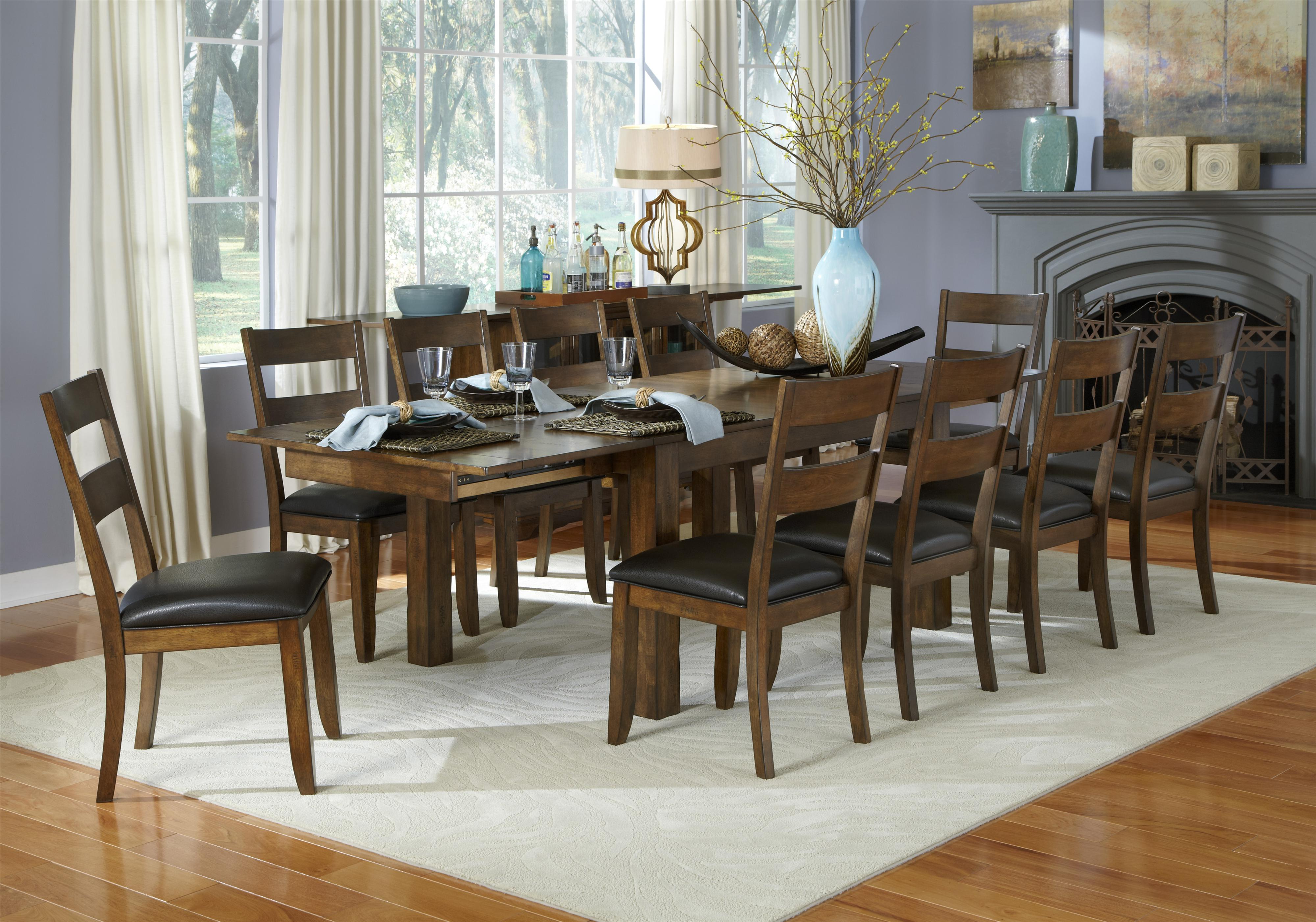 11 piece table and ladderback chairs set by aamerica for 11 piece dining table
