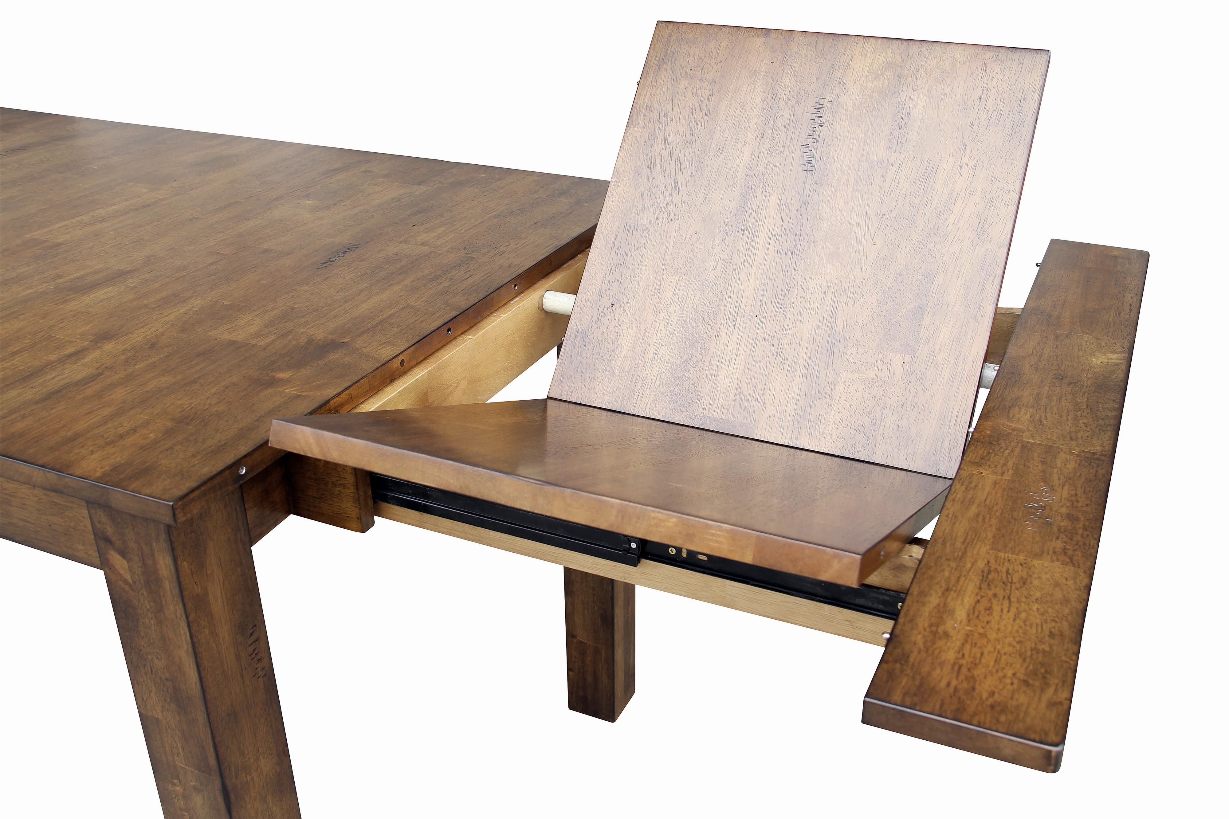 Dining Leg Table With 2 Self Storing Butterfly Leaves By