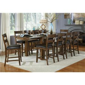 AAmerica Mariposa 11 Piece Gathering Table and Chairs Set