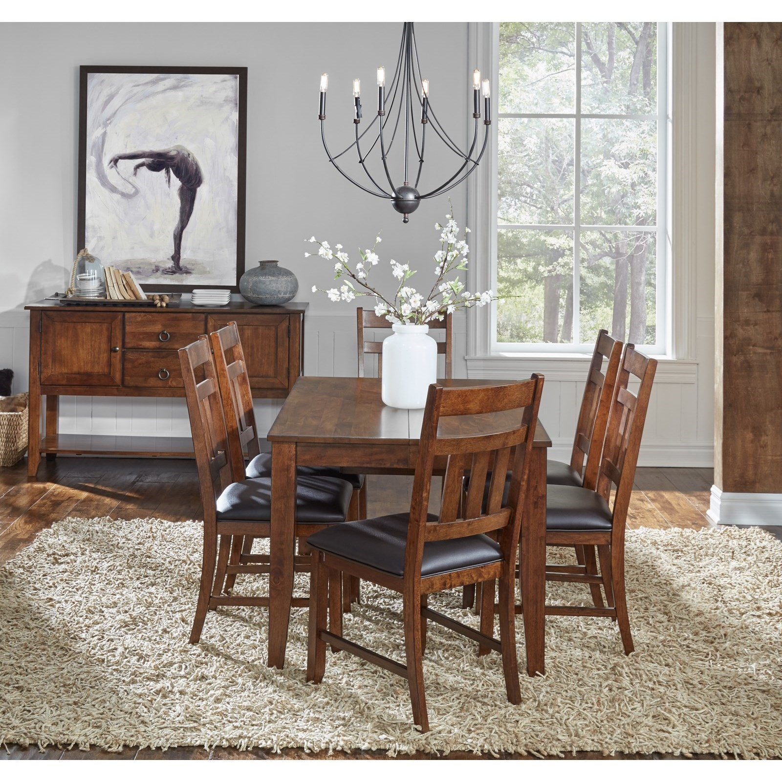 Square Butterfly Leaf Dining Table by AAmerica