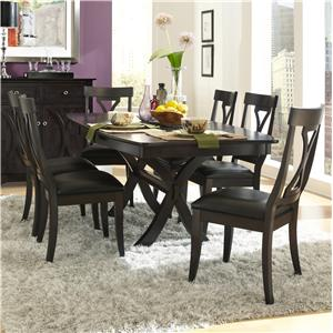 AAmerica Midtown 7 Piece Table and Chairs Set