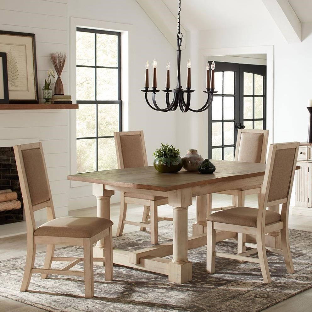 Cottage Style Solid Wood 5-Piece Dining Set by AAmerica ...