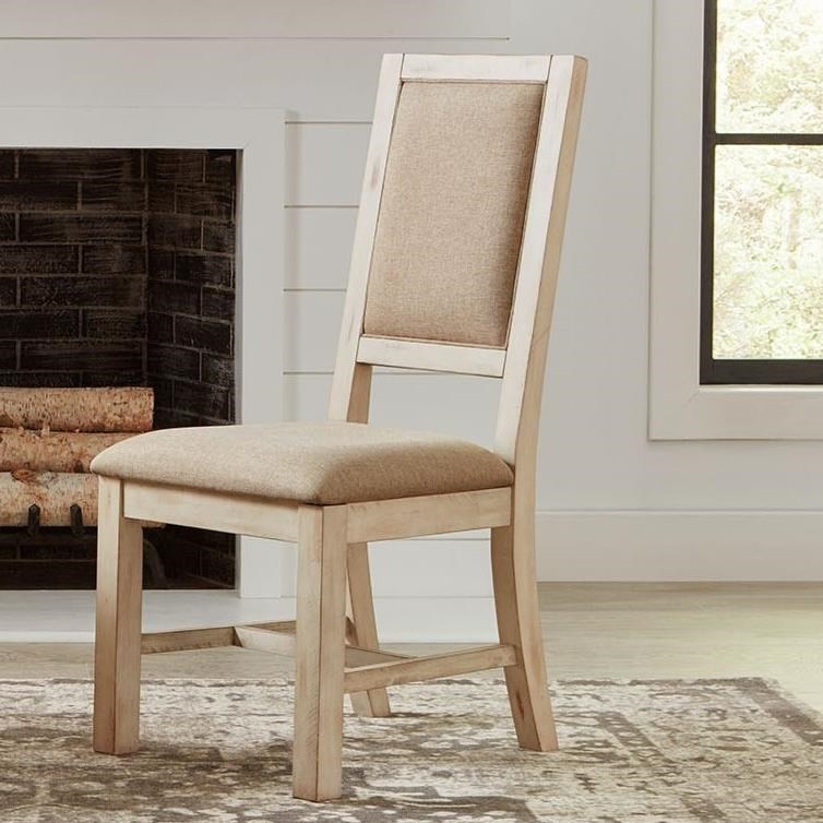 Admirable Cottage Style Solid Wood Upholstered Dining Side Chair By Home Interior And Landscaping Oversignezvosmurscom