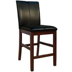 "AAmerica Parson Chairs 24"" Black Barstool"